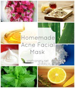 homemade acne facial mask