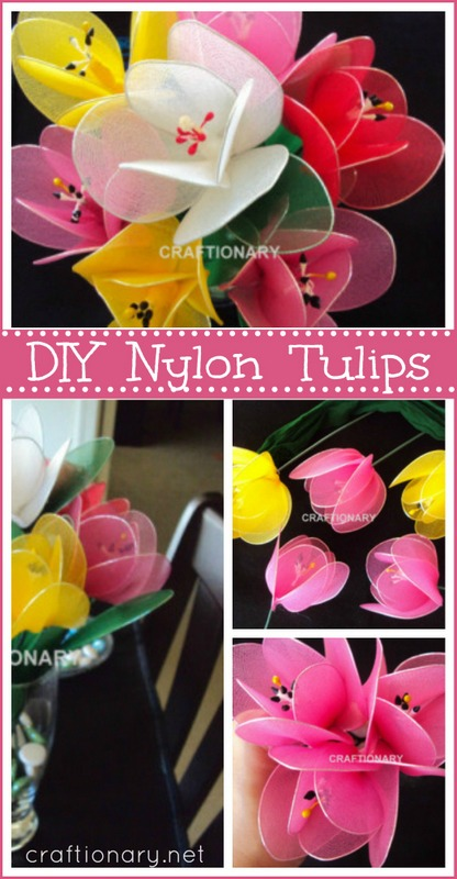 DIY nylon flower tulips