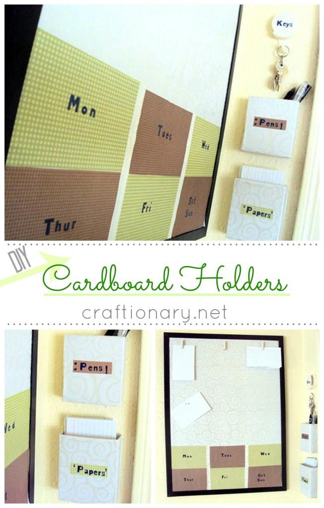 DIY cardboard wall holders