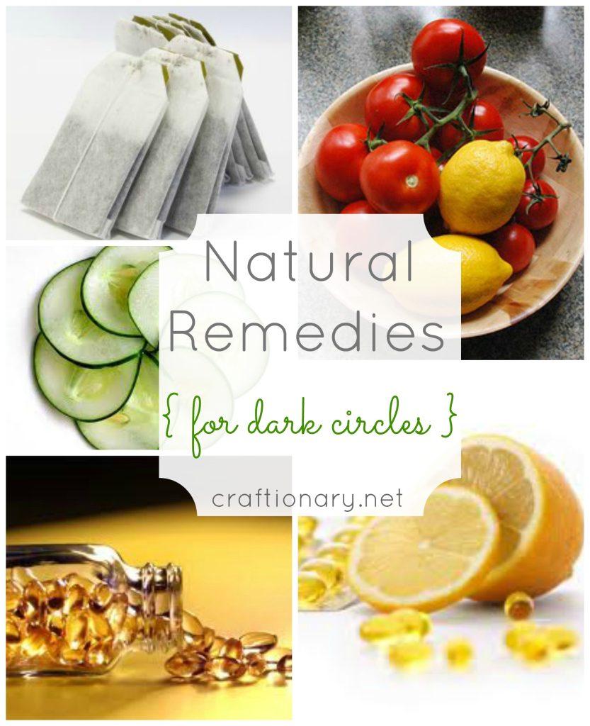 natural dark circle remedies