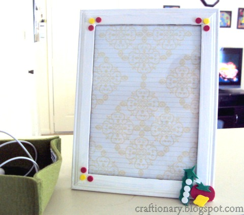 DIY dry erase list frame