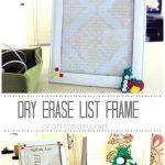 dry erase list frame