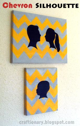 chevron silhouette canvas
