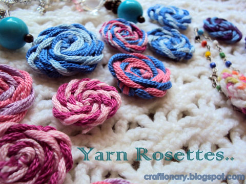 make yarn rosettes