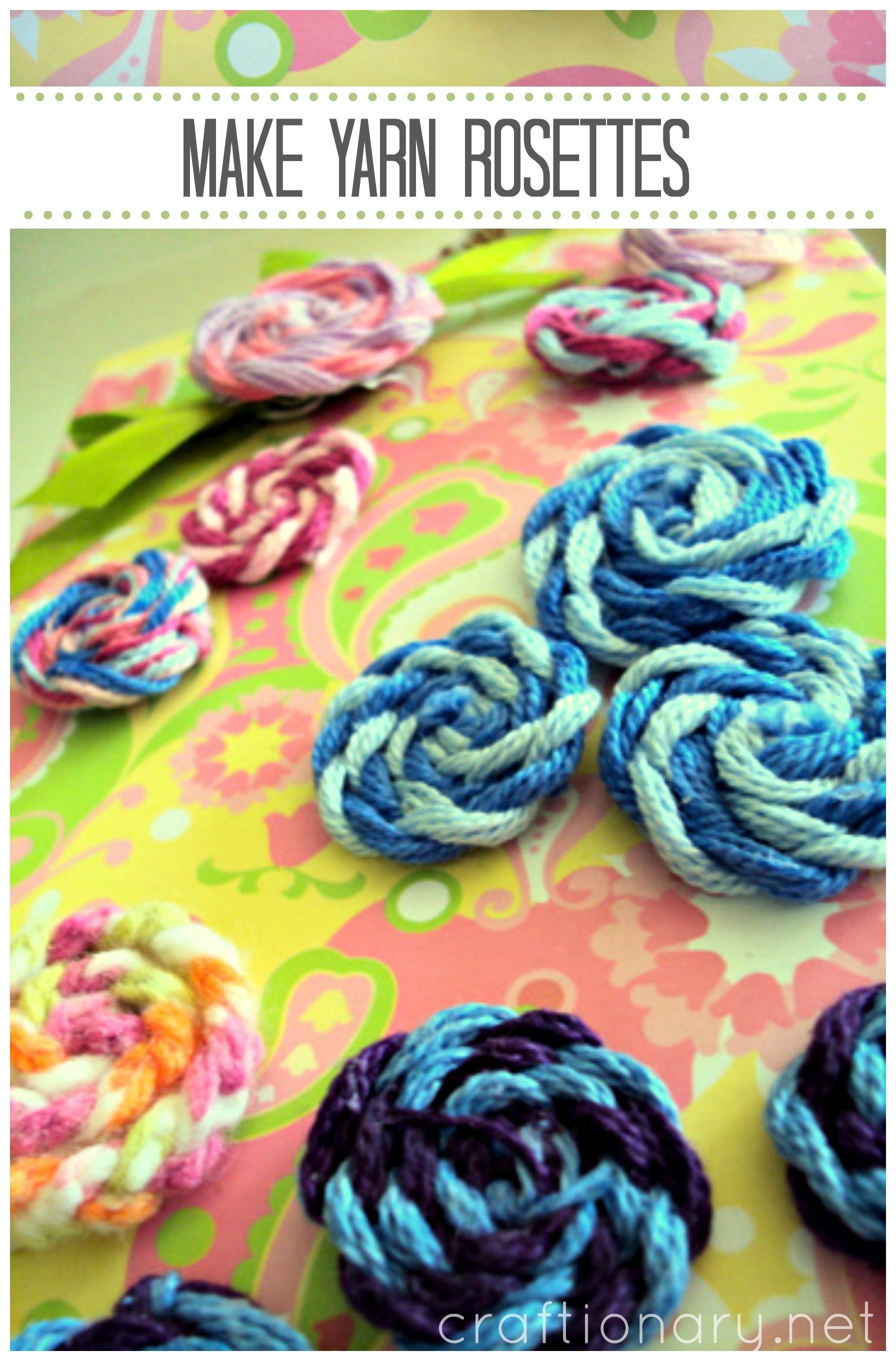 make_yarn_rosettes