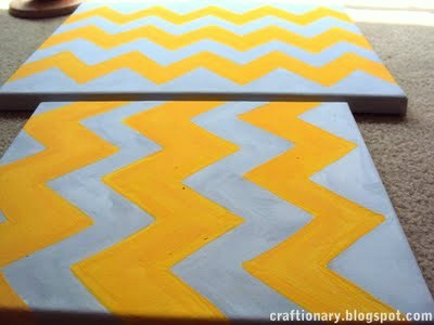 chevron painted canvas tutorial