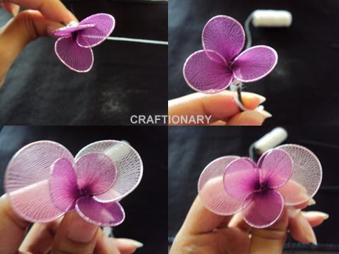 make handmade orchids