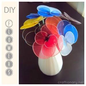 nylon handmade flower