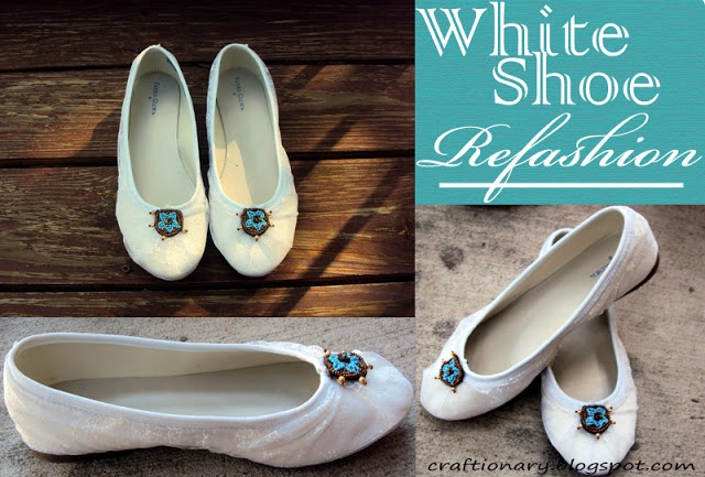 refashion white shoes