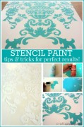 how to stencil paint