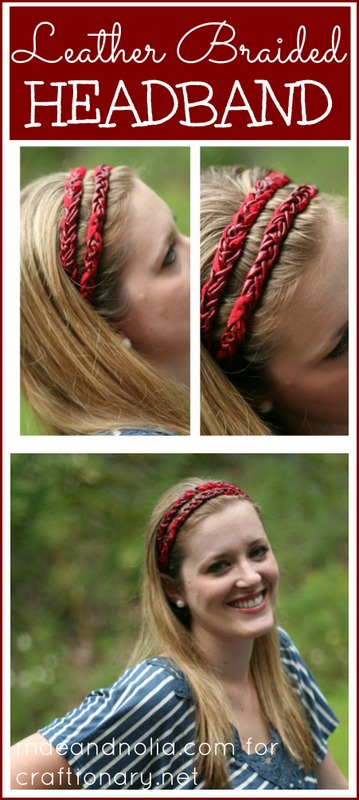 leather braided headband