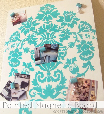 painted magnetic board