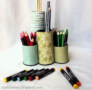 paper roll pencil organizer