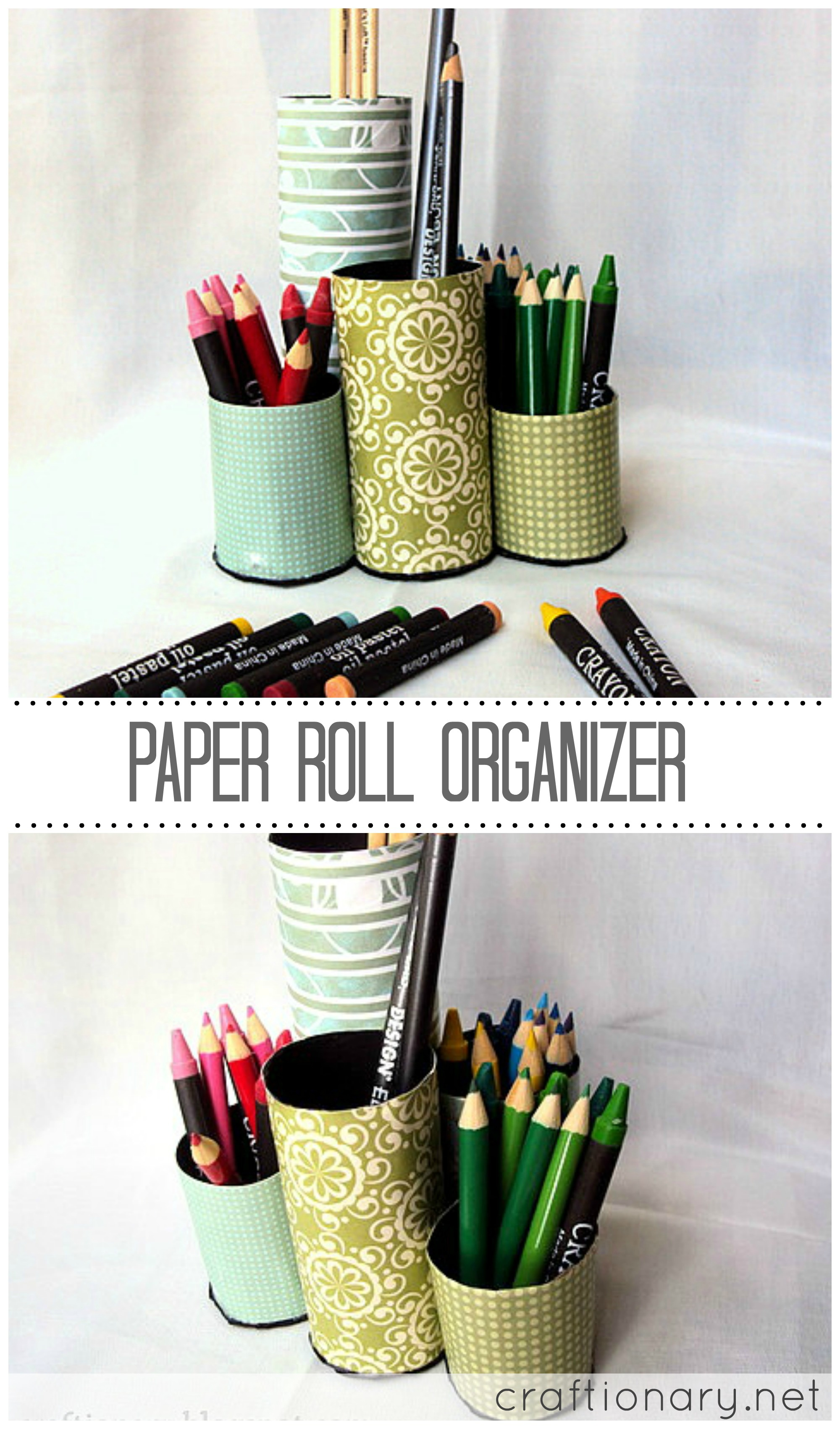 Recycle paper rollg paper roll pencil organizer jeuxipadfo Choice Image