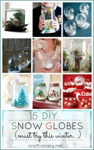 DIY snow globes tutorials