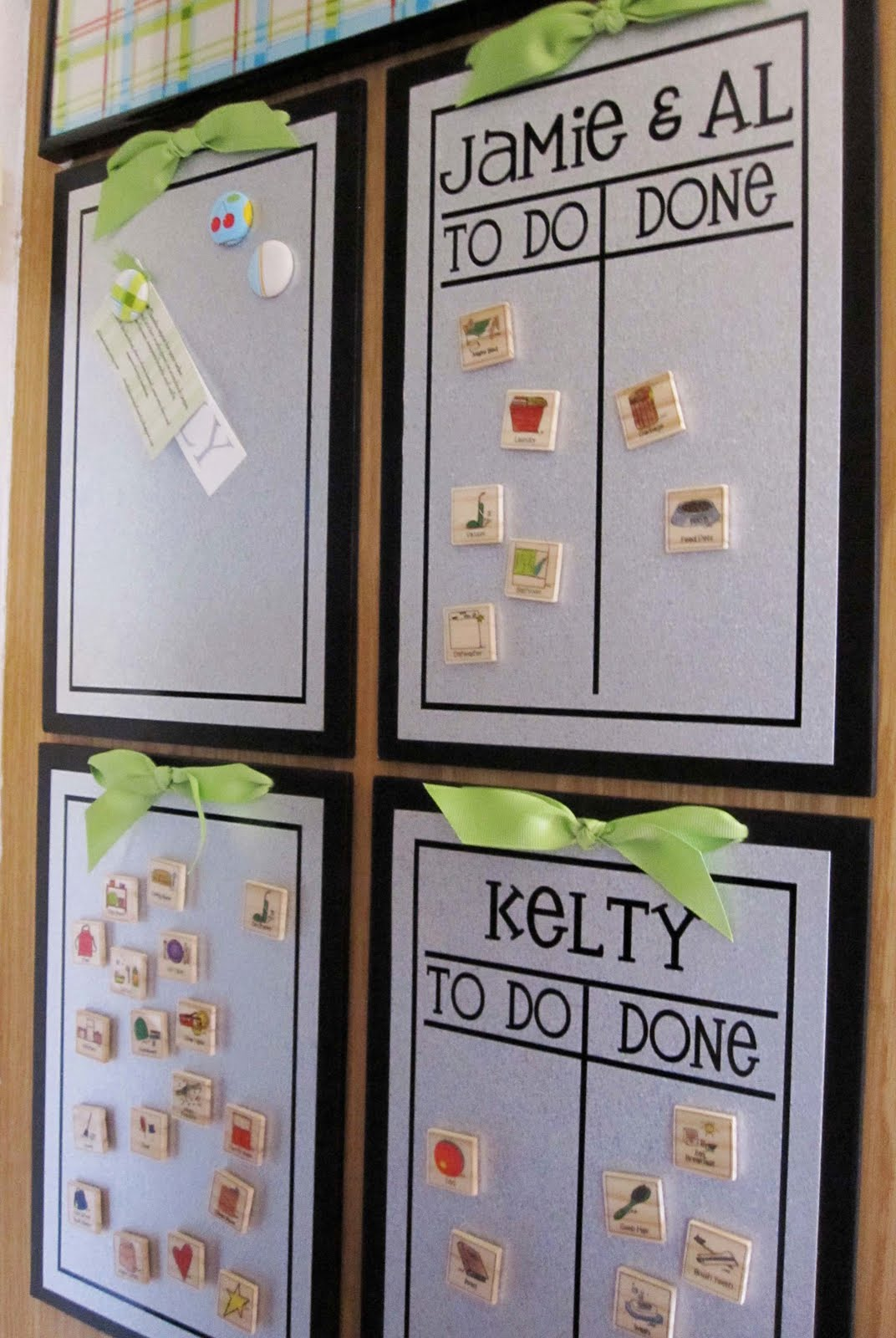 Craftionary - Simple ways of keeping your home organized using magnetic picture frames ...