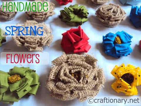 In My Excitement For Spring I Made Flowers Defined Petals With Burlap And Fabric Different Colors They Are Perfect