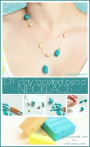 clay beads necklace