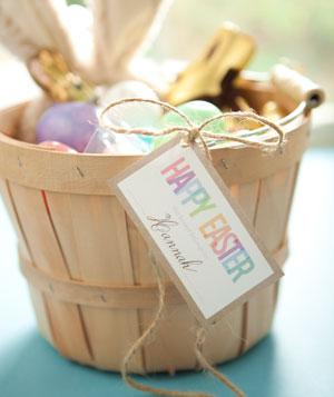 Easter basket tag printable