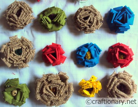 fabric handmade flowers