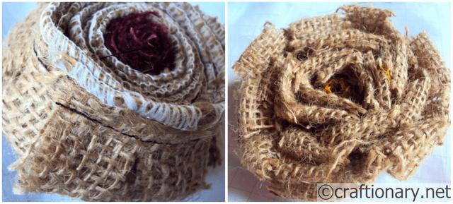 handmade flower burlap