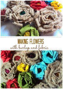 Make Burlap and Fabric Flowers
