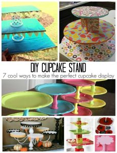DIY cupcake stand tutorial