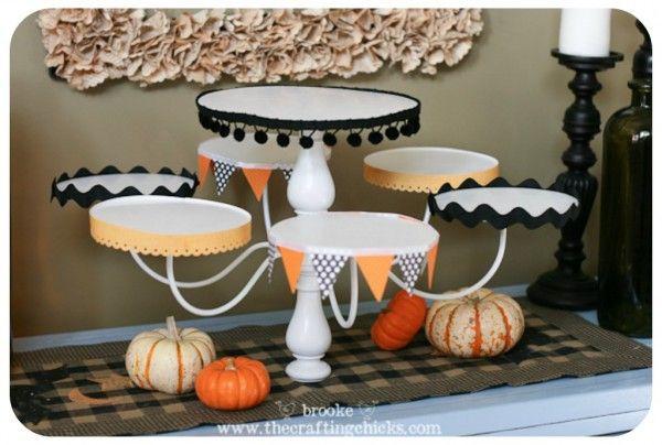 DIY chandelier cupcake stand