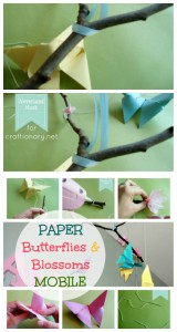 paper butterflies and paper blossoms