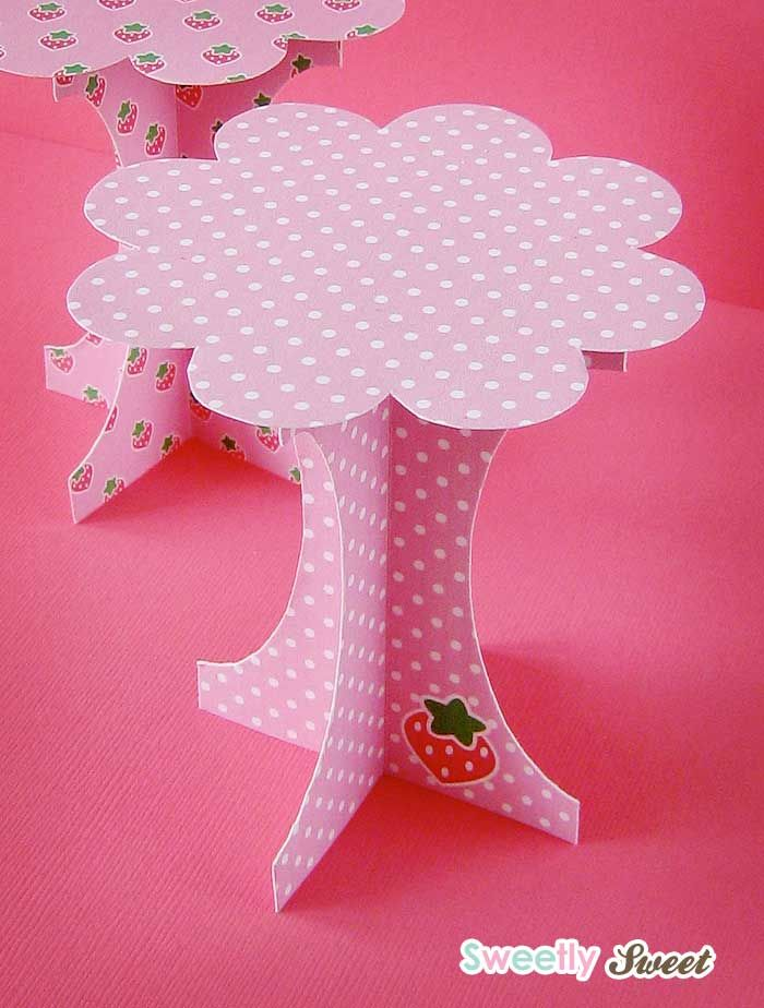 mini paper cupcake stand