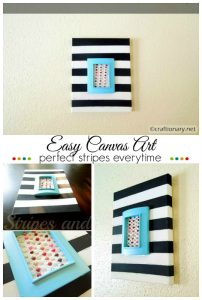 DIY stripes canvas art
