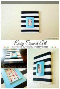 DIY stripes canvas art