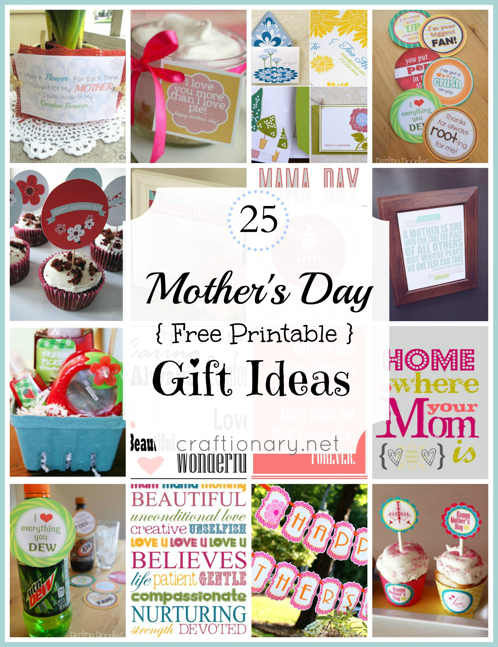 25 Best Mothers day free printables to love - Craftionary