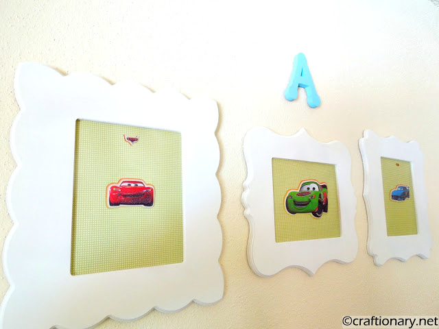 cars themed frames diy