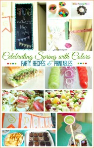 Celebrating SPRING with Colors (Party, Food and Printables)