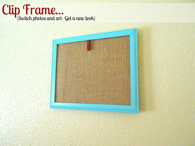 clip display frames changing photo art