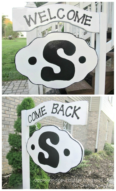 painted monogram welcome sign tutorial