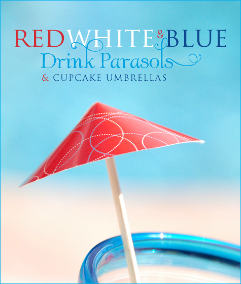 Patriotic drink umbrella printable