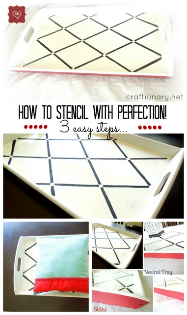 how to stencil DIY tutorial