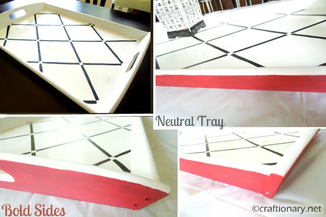 make stenciled tray DIY tutorial