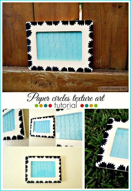 paper circles art wooden frame