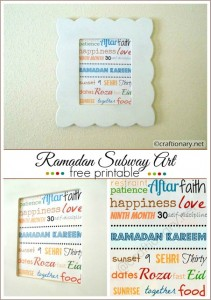 Ramadan subway art printable