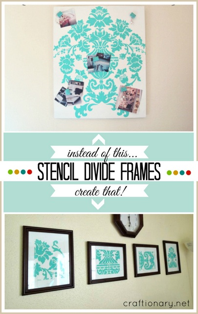 stencil divide frames