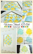 DIY woven stencil 3D art tutorial