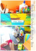 back to school toddler activity box