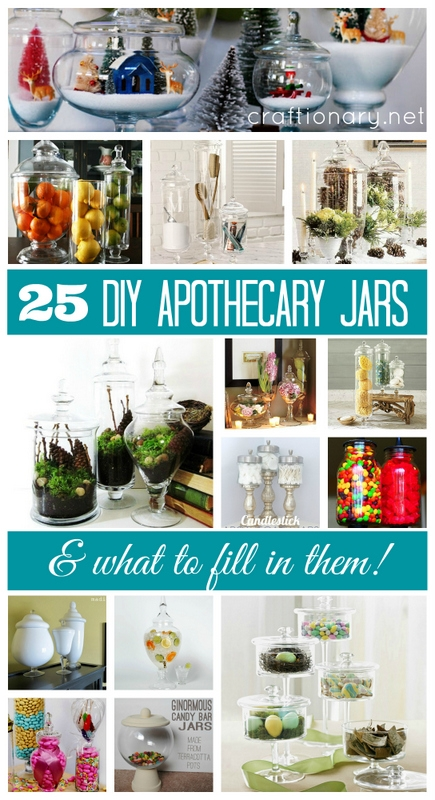 25 diy apothecary jars what to fill