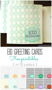 Eid Greetings Printable