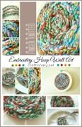 handmade finger knitted art