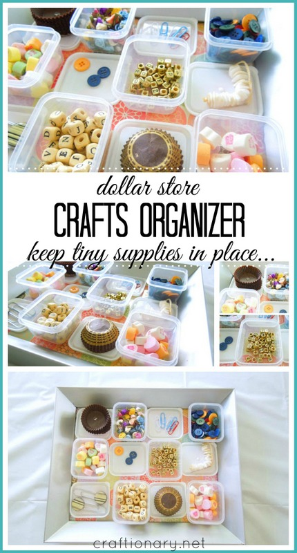 DIY crafts organizer