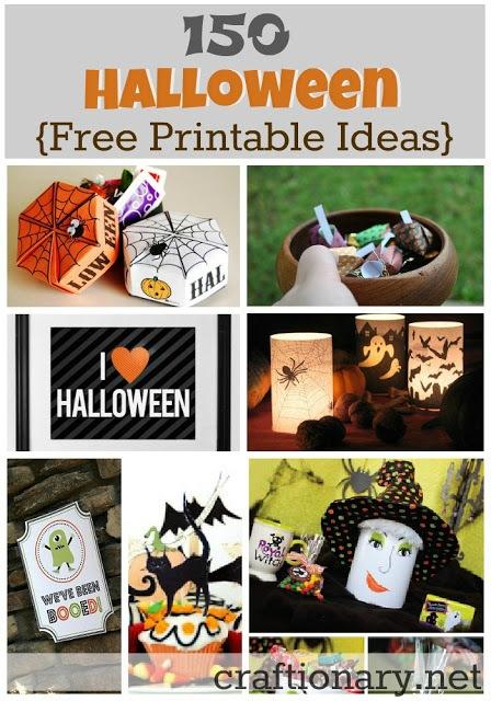 150 Halloween Free Printables